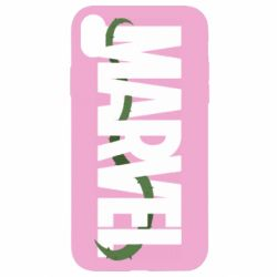 Чехол для iPhone XR Marvel logo and vine