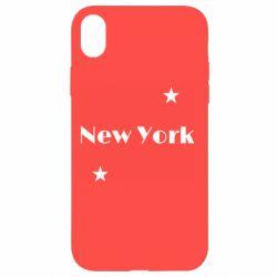 Чехол для iPhone XR New York and stars