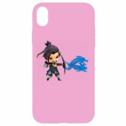 Чехол для iPhone XR Overwatch Hanzo Chibi