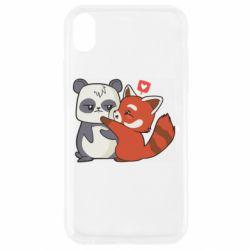 Чохол для iPhone XR Panda and fire panda