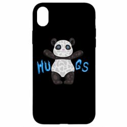 Чехол для iPhone XR Panda hugs