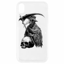 Чехол для iPhone XR Plague Doctor graphic arts