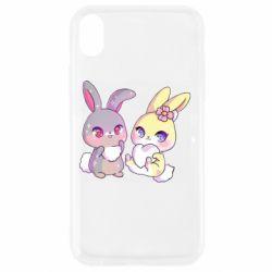 Чохол для iPhone XR Rabbits In Love