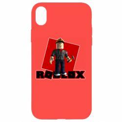Чехол для iPhone XR Roblox Builderman