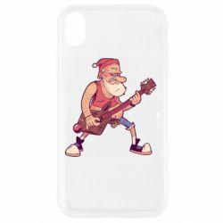 Чохол для iPhone XR Rock'n'roll Santa