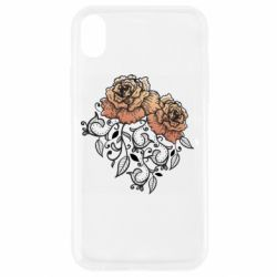 Чохол для iPhone XR Roses with patterns