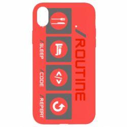 Чохол для iPhone XR Routine code