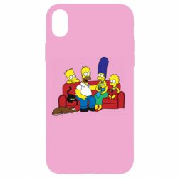 Чехол для iPhone XR Simpsons At Home