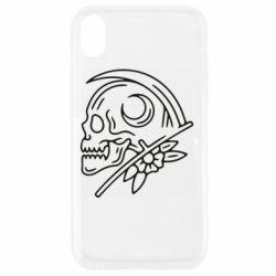 Чохол для iPhone XR Skull with scythe