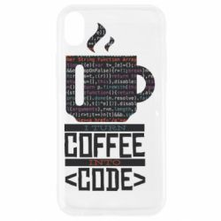 Чохол для iPhone XR Сoffee code
