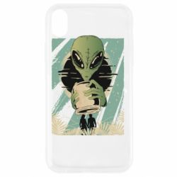 Чохол для iPhone XR Alien with a can