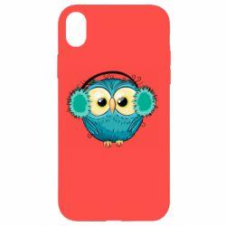 Чехол для iPhone XR Winter owl