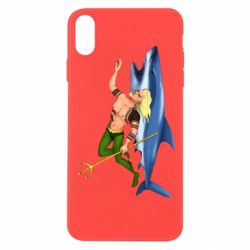 Чехол для iPhone Xs Max Aquaman with a shark