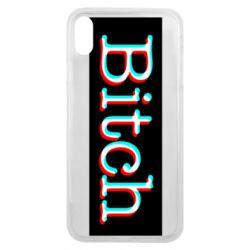 Чехол для iPhone Xs Max Bitch glitch
