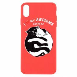 Чехол для iPhone Xs Max Cats and love