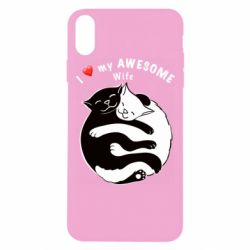 Чехол для iPhone Xs Max Cats with a smile