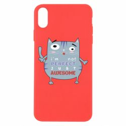 Чехол для iPhone Xs Max Cute cat and text
