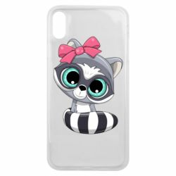 Чехол для iPhone Xs Max Cute raccoon