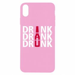 Чехол для iPhone Xs Max Drink Drank Drunk