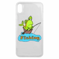 Чехол для iPhone Xs Max Fish Fishing