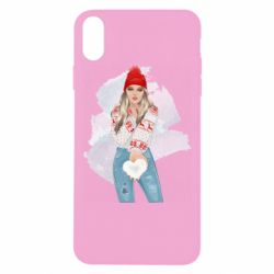 Чехол для iPhone Xs Max Girl in a red sweater