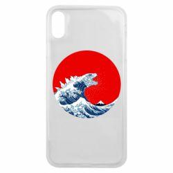 Чохол для iPhone Xs Max Godzilla Wave