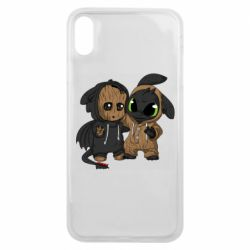 Чехол для iPhone Xs Max Groot And Toothless