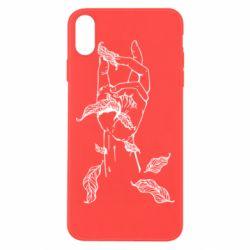 Чохол для iPhone Xs Max Hand with leafs