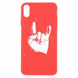 Чехол для iPhone Xs Max HEAVY METAL ROCK