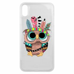 Чохол для iPhone Xs Max Little owl with feathers