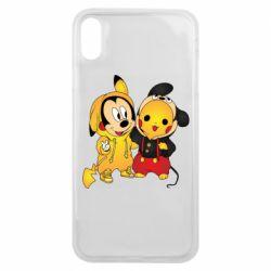 Чехол для iPhone Xs Max Mickey and Pikachu