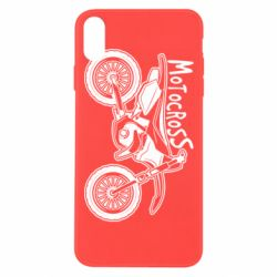 Чохол для iPhone Xs Max Motocross text and motorcycle