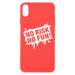 Чохол для iPhone Xs Max No Risk No Fun