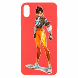 Чехол для iPhone Xs Max Overwatch Tracer Character