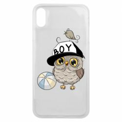 Чехол для iPhone Xs Max Owl with a ball