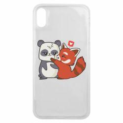 Чохол для iPhone Xs Max Panda and fire panda