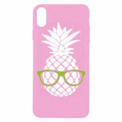 Чехол для iPhone Xs Max Pineapple with glasses