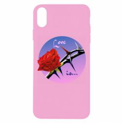 Чохол для iPhone Xs Max Rose with thorns