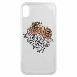 Чохол для iPhone Xs Max Roses with patterns