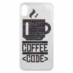 Чохол для iPhone Xs Max Сoffee code