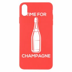 Чохол для iPhone Xs Max Time for champagne