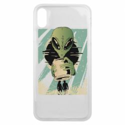 Чохол для iPhone Xs Max Alien with a can