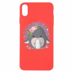 Чехол для iPhone Xs Max Two cute penguins
