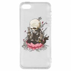 Чехол для iPhone5/5S/SE A skeleton sitting on a lotus