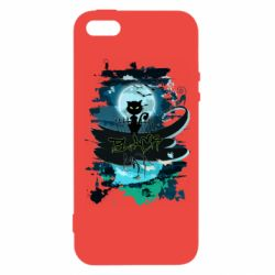 Чехол для iPhone5/5S/SE Black cat art