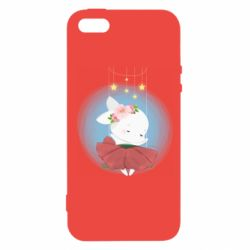 Чохол для iPhone 5 Bunny in a red dress