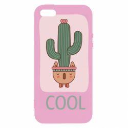 Чехол для iPhone5/5S/SE Cactus art