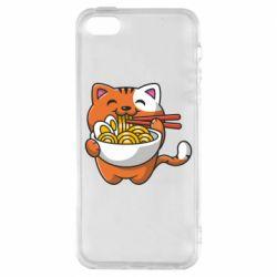 Чохол для iphone 5/5S/SE Cat and Ramen