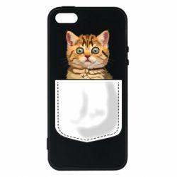 Чехол для iPhone5/5S/SE Cat in your pocket