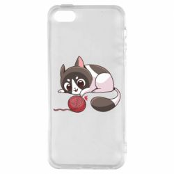 Чохол для iPhone 5 Cat with a ball